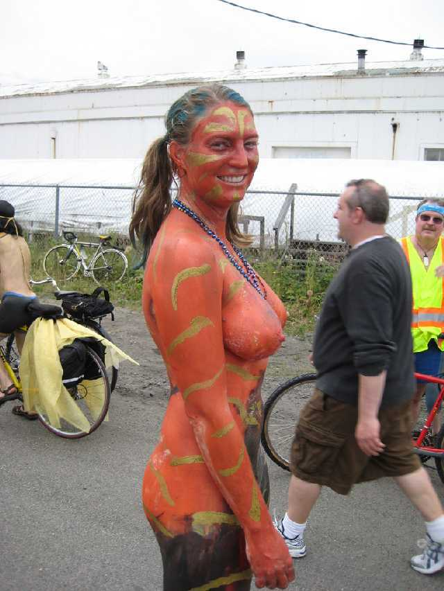Nude Girl with Bodypaint
