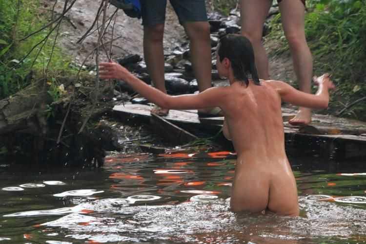 Swimming Nude